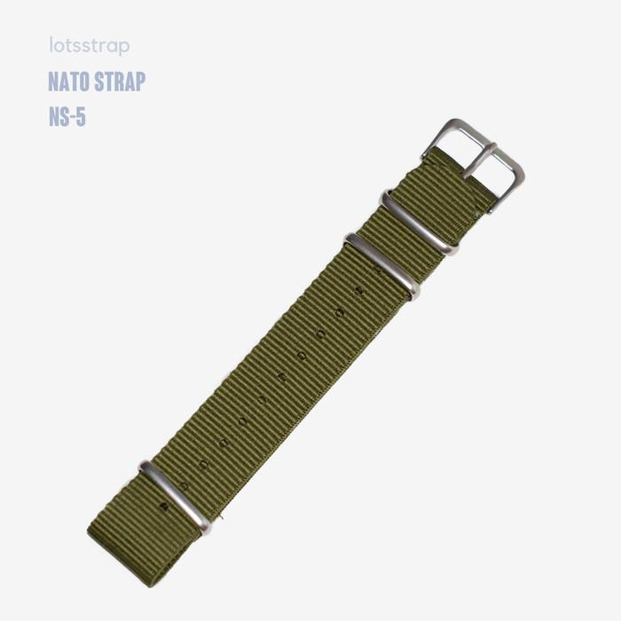 Foto Produk Tali Jam Tangan Nato Strap Hijau Green Army - 18mm dari Lot's