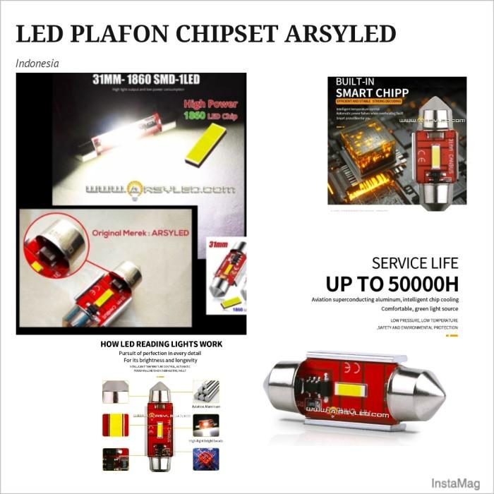 Foto Produk Lampu LED Kabin Plafon 31 mm CHIPSET 1680 Ekstrim Terang Mobil - Putih dari arsystore