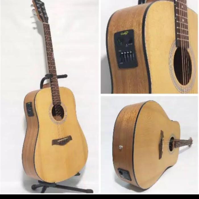 Foto Produk Gitar Akustik Elektrik String Cowboy GW-240NA ORIGINAL BONUS LENGKAP dari JakartaUndercover.id