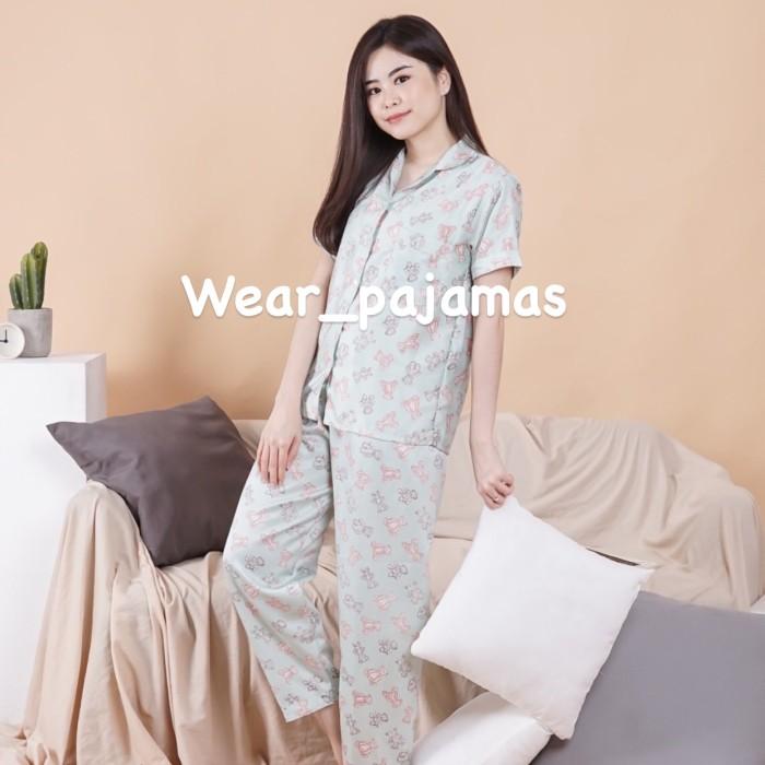 Foto Produk PIYAMA CELANA PANJANG WANITA MOTIF BEAR dari Wear Pajamas