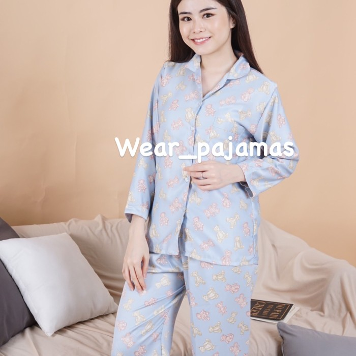 Foto Produk PIYAMA LENGAN PANJANG MOTIF BEAR dari Wear Pajamas