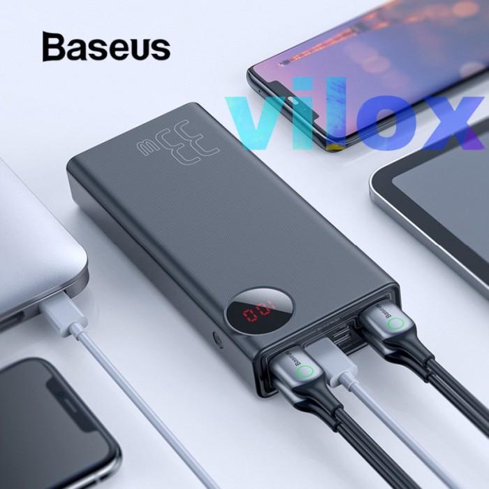 Foto Produk baseus powerbank pb 30000mah pd qc 33w 5output iphone x 11 pro macbook dari Vilox