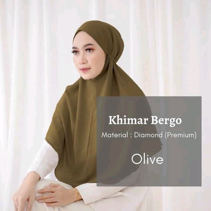 Jual Promo Chasback Jilbab Hijab Instan Bergo Maryam Tali Diamond Olive Kab Bandung Qanita Collection92 Tokopedia