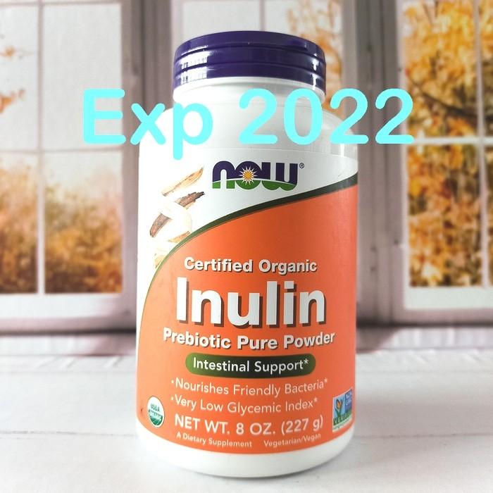 Foto Produk Now Foods Inulin Certified Organic Prebiotic Pure Powder 227 gram dari beautysta