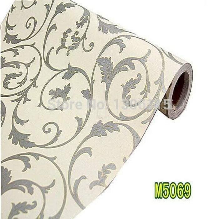 Foto Produk Damask classic 45 cm x 10 mtr || Wallpaper dinding dari dedengkot wallpaper