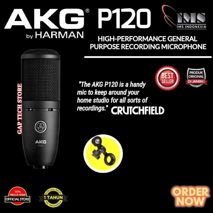 Foto Produk AKG P120 / P 120 High Performance Condenser Microphone Original dari GAP TECH STORE