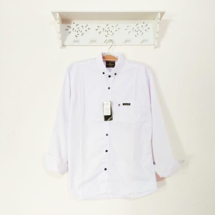 Foto Produk kemeja pria panjang polos putih - Putih, M dari dr.jeans