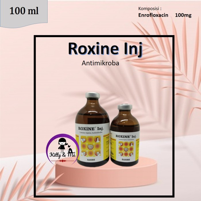Foto Produk Roxine 100 ml Obat Antibiotik infeksi Ternak ayam sapi kambing domba dari KITTY & ME