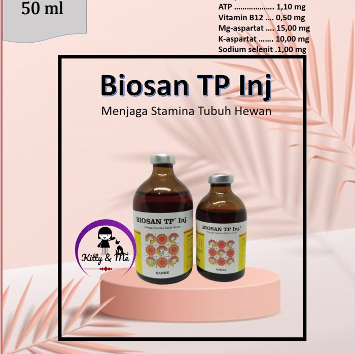 Foto Produk Biosan TP Injeksi 50ml dari KITTY & ME