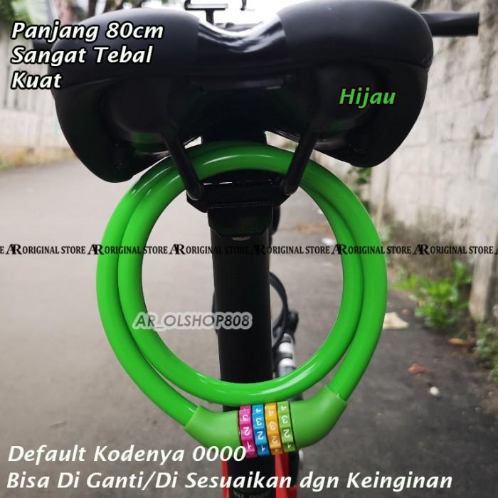 Foto Produk Gembok Sepeda Kunci Sepeda Gembok Rantai Kunci Sepeda Motor 4 Digit - Hijau dari ar_olshop808