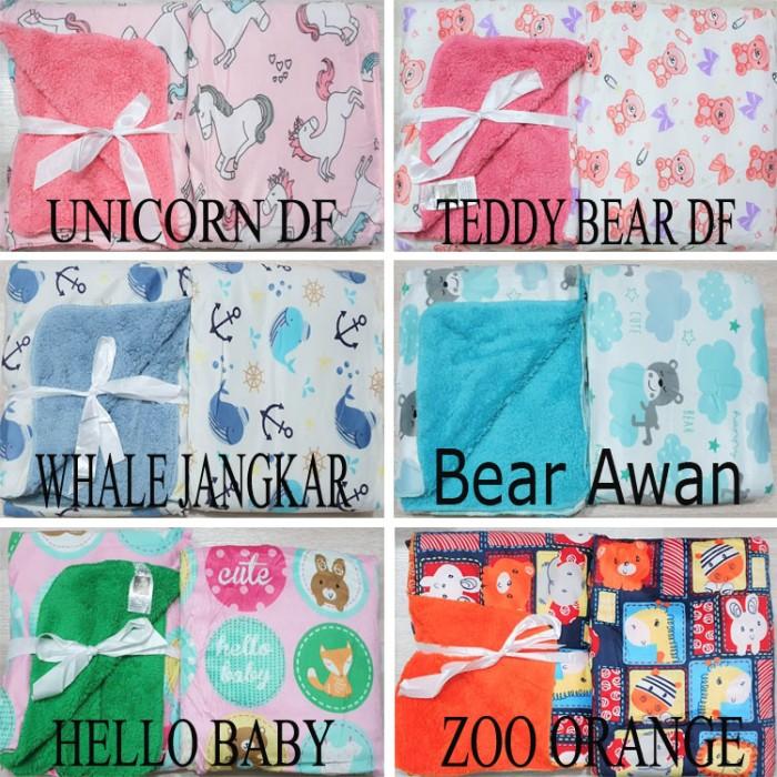 Foto Produk Selimut Bayi Double Fleece | Selimut Anak Double Fleece Tanpa Topi - Hello Kitty DF dari Lunar Baby Shop