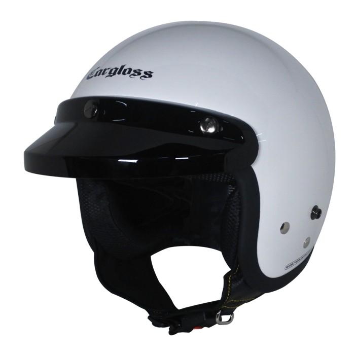 Foto Produk Cargloss CF Retro Army Helm Half Face - SP. Whity White - XL dari Helm Cargloss