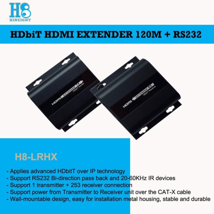 HDbitT HDMI Extender With RS232 Support 1 Transmitter 120M (HINEIGHT(H8))