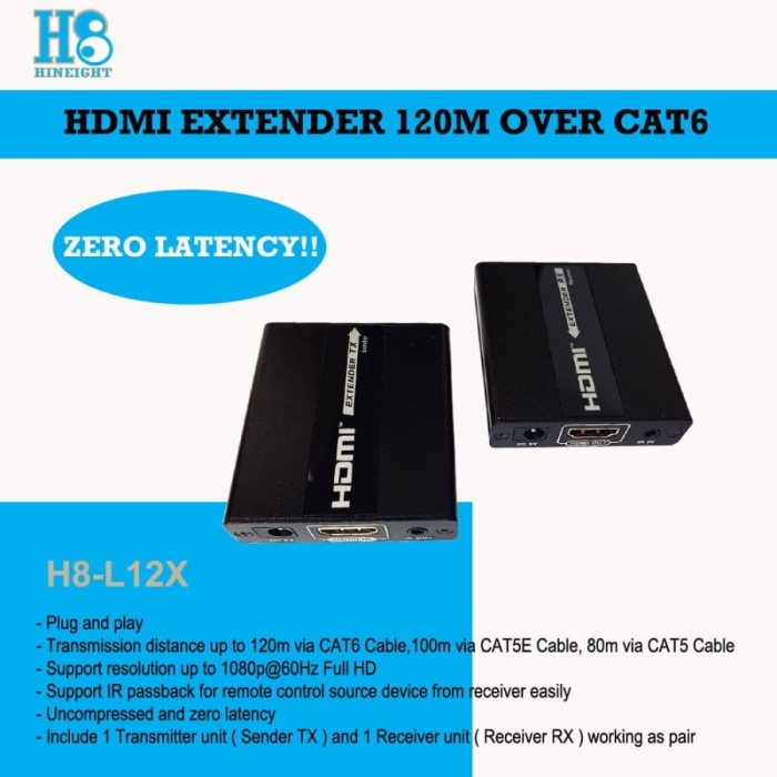 HDMI Extender Over Single Cat6 120M (HINEIGHT(H8))