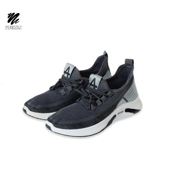 Foto Produk Marelow - Sepatu Sneakers Pria Casual Import - SNK7051 - Black, 39 dari Marelow