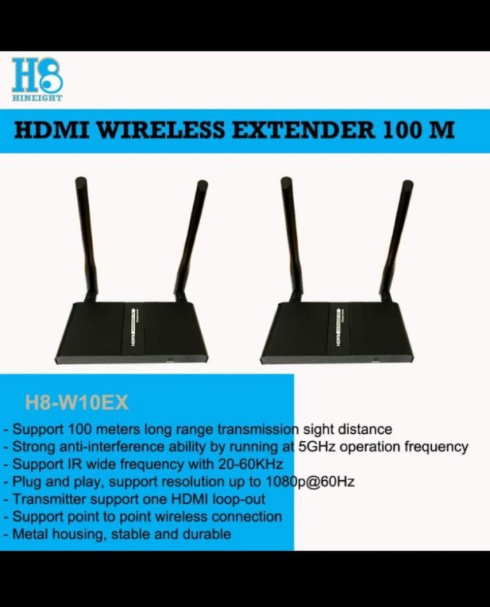 Wireless HDMI Extender 100M (HINEIGHT(H8))