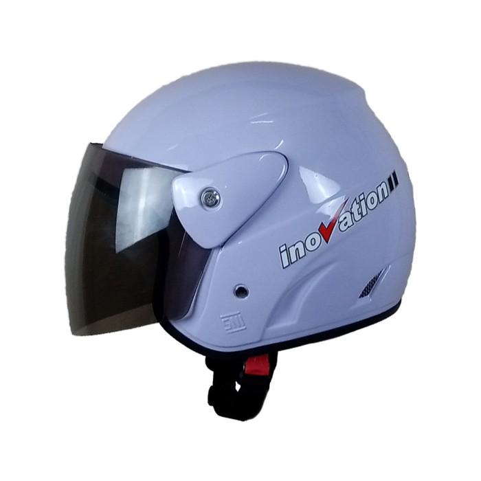 Helm Open Half Face Dewasa Kaca Visor Putih Wira Evo Inovation SNI