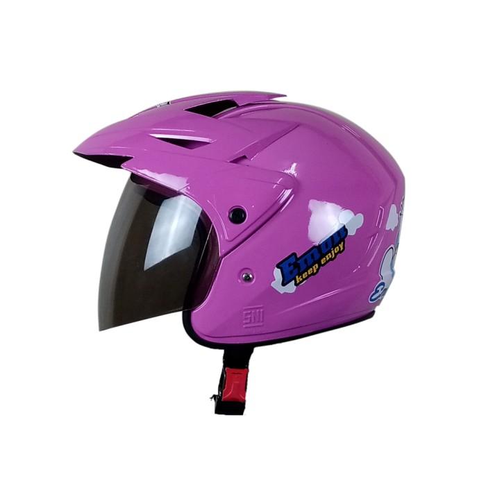 Helm Motor Anak Kecil Murah Kids Helmet Pet SNI Pink Motif Doraemon