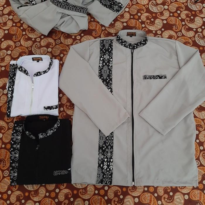 Foto Produk baju koko jaket kombinasi batik - Hitam, M dari maedina colection