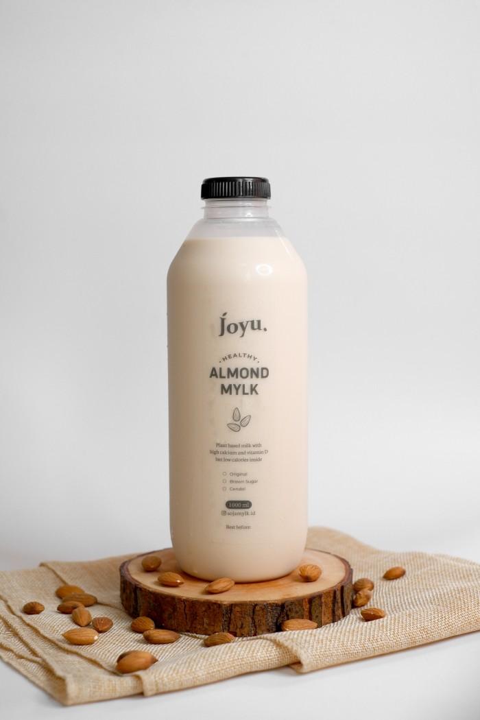 Susu Almond Milk Sehat Vegan Asi Booster Joyu – Gula Aren 1 L / 500 mL