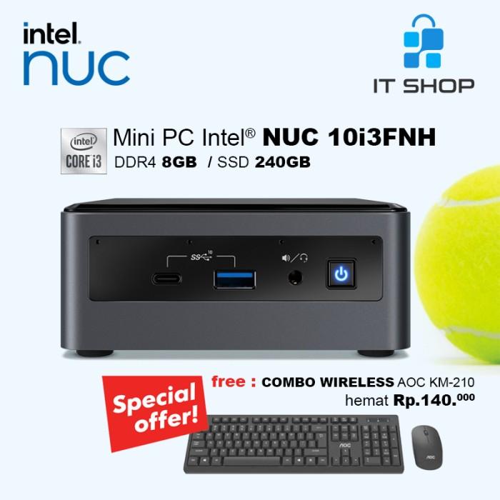 Intel Mini PC NUC 10i3FNH Ram 8GB SSD 240GB Image