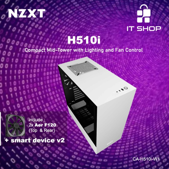 NZXT Casing Gaming H510i - WHITE Image