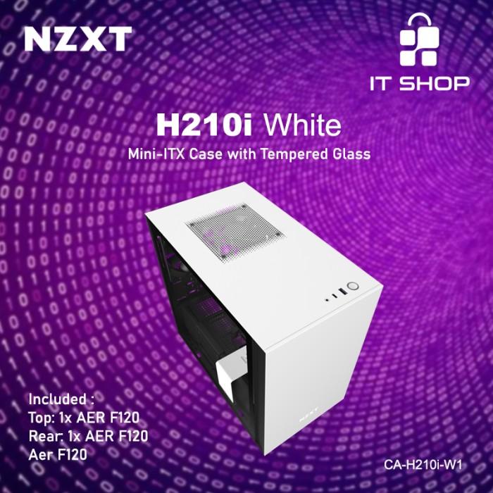 NZXT Casing Gaming H210i White Matte Image