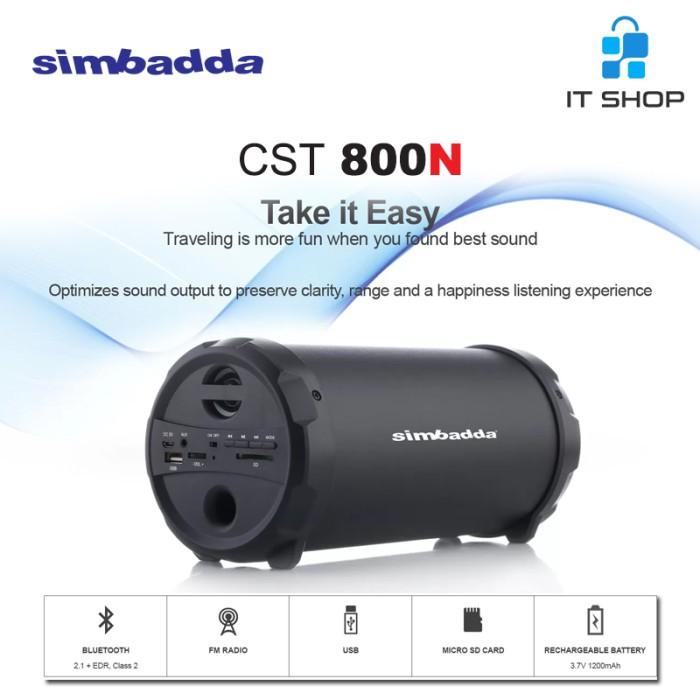 Simbadda Speaker Portable Music Player CST 800N - Hitam Image