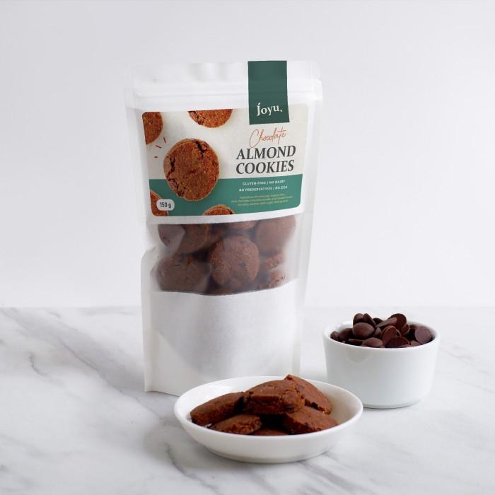 SNACK COOKIES ALMOND – CHOCOLATE / COKLAT 150 GR JOYU