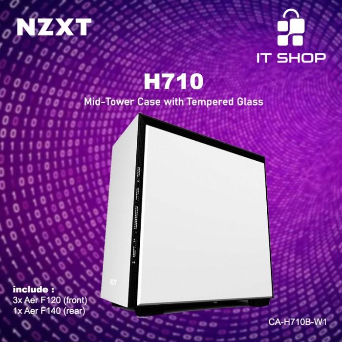 NZXT Casing Gaming H710 White Matte Image
