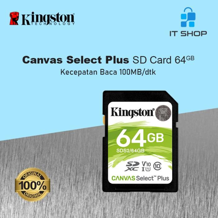 Kingston Canvas Select Plus SD Card - 64GB Image