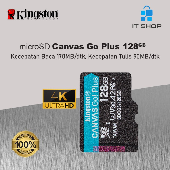 Kingston Canvas Go Plus 4K microSD Card - 128GB Image