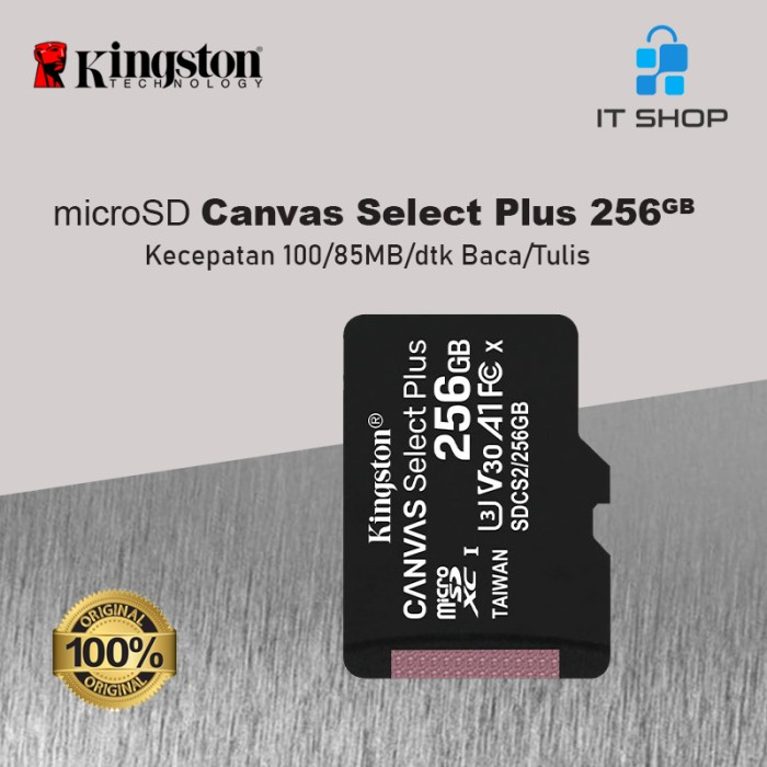 Kingston Canvas Select Plus microSD Card - 256GB Image