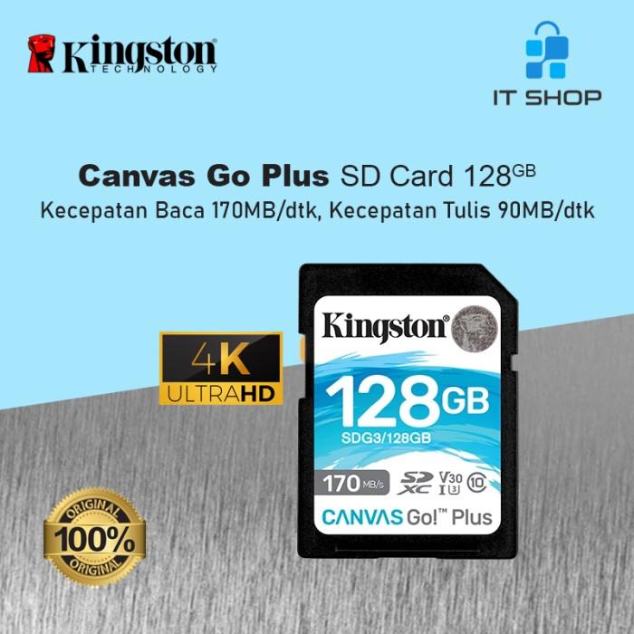 Kingston Canvas Go Plus 4K SD Card - 128GB Image