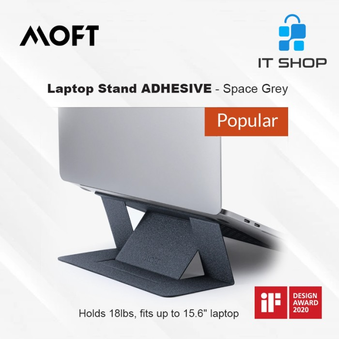 MOFT Laptop Stand Adhesive - Space Grey Image