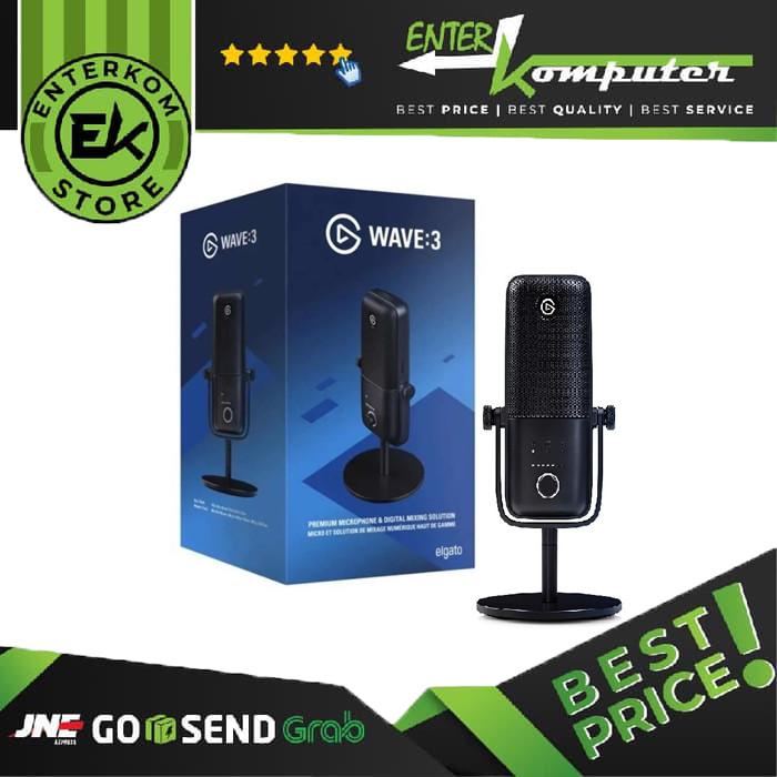 Elgato Wave:3 USB Microphone + Pop Filter