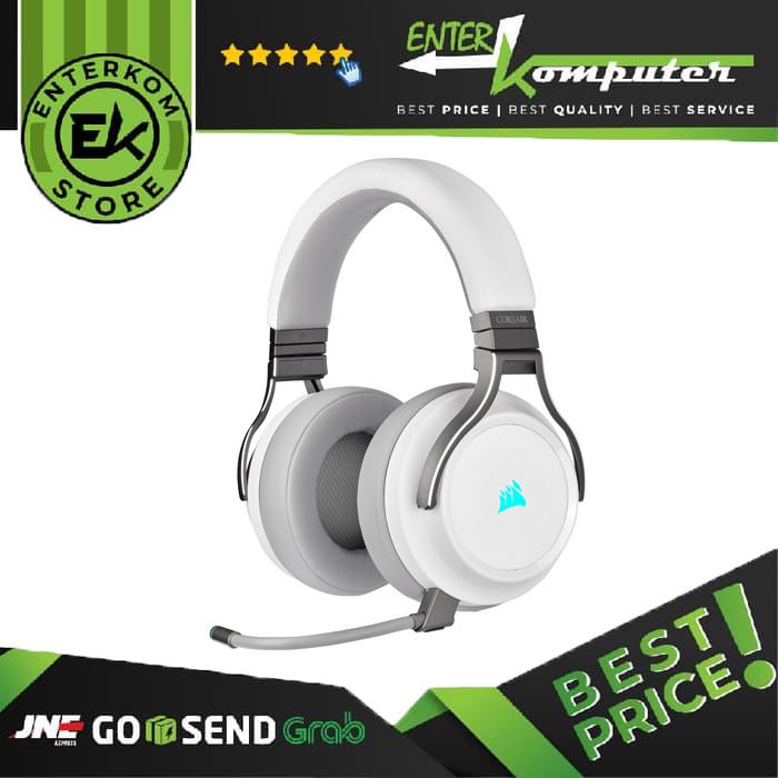 Corsair Virtuoso RGB Wireless Gaming Headset (White)