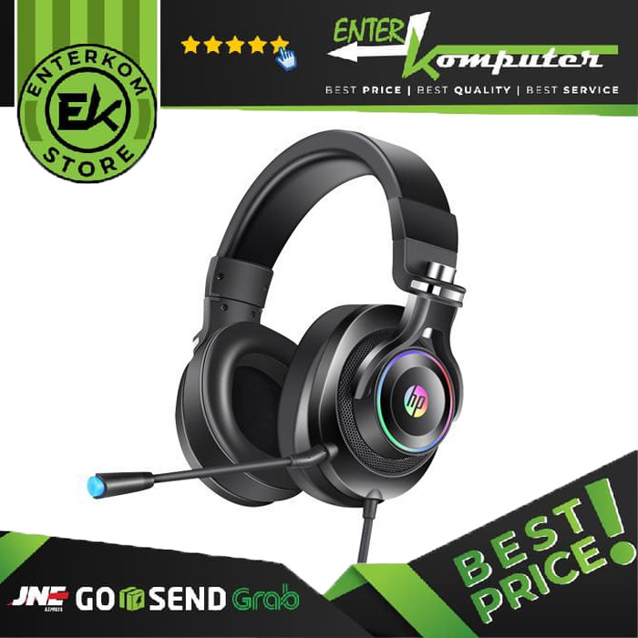 HP H500GS Virtual 7.1 Wired Gaming Headset (Black)