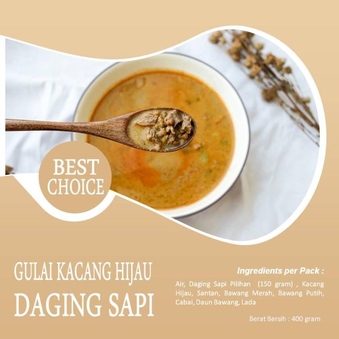 Gulai Kacang Hijau (Daging Sapi) Frozen Food (CA-JO Foods)
