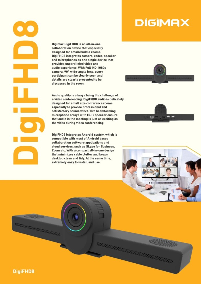 DIGIMAX DigiFHD8 Video Conference Android