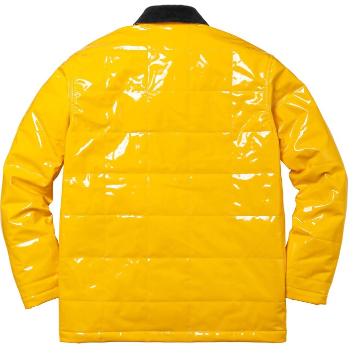 check out 59d87 772c3 Supreme Quilted Patent Vinyl Work Jacket - Kuning, L