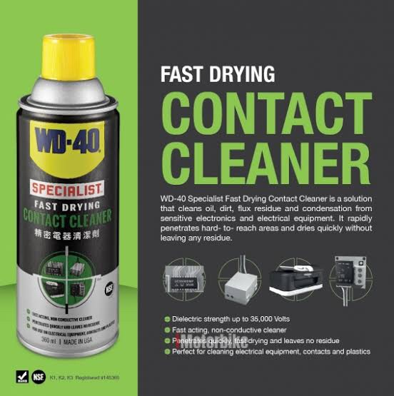 Jual WD-40 Specialist Fast Drying Contact Cleaner - Kota Surabaya - Best  Buy Shopee | Tokopedia
