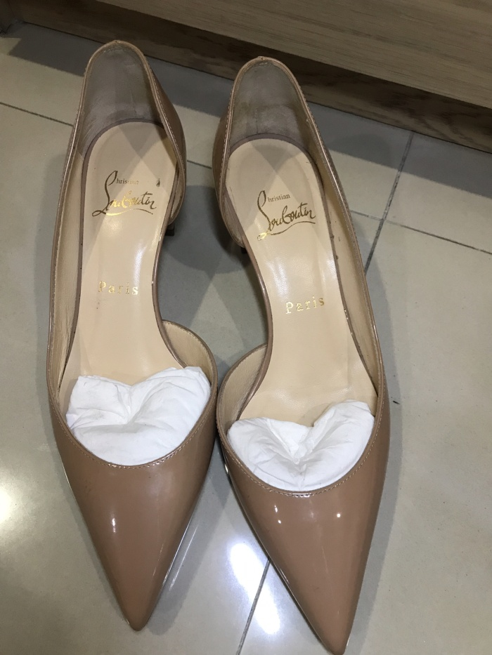 4793df4882d Jual christian louboutin shoes preloved nude colour - DKI Jakarta -  PinkPink Collection | Tokopedia