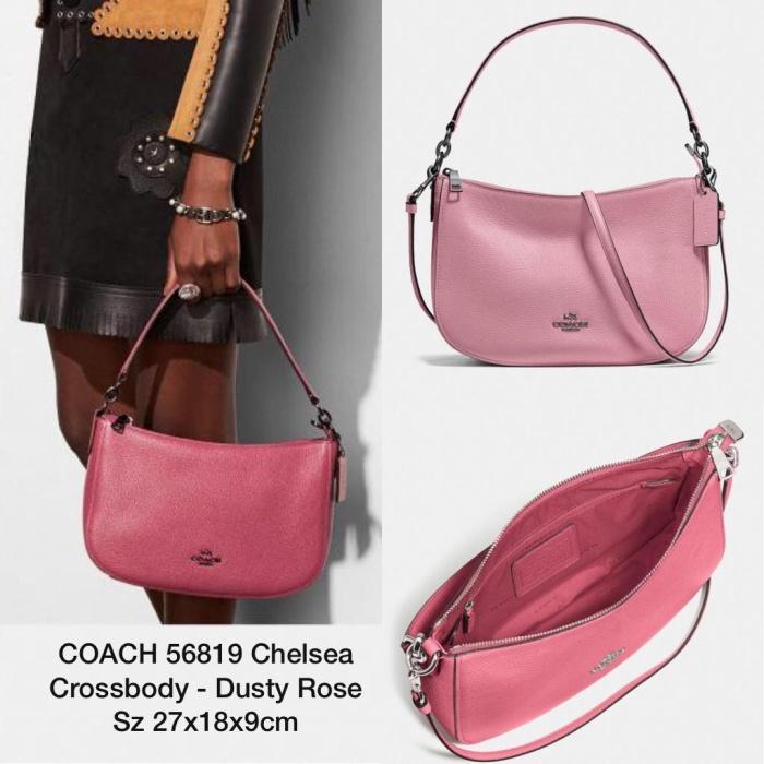 4cf276a2f99c Jual Tas COACH 56819 Chelsea Crossbody Dusty Rose - VeaBee