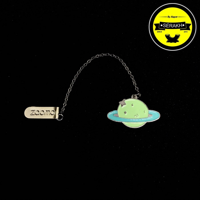 Bookmark Pendant Simple Cartoon Art Metal Green Neptune