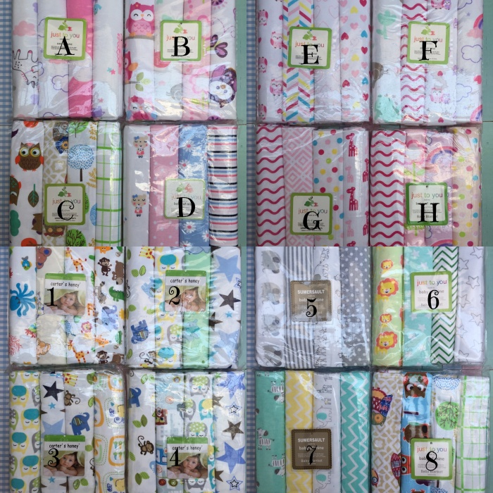Carter's kain bedong bayi 4in1 cotton flanel baby blanket selimut