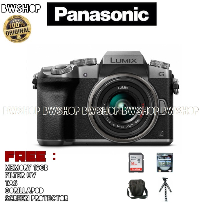 harga Panasonic lumix dmc-g7 kit 14-42mm - panasonic g7k Tokopedia.com