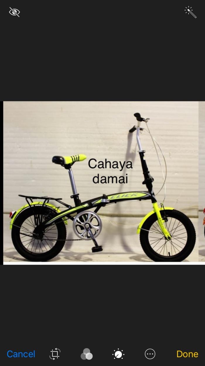 Jual Sepeda Lipat 16 Cilik Genio Jakarta Timur Cahaya Damai Sepeda