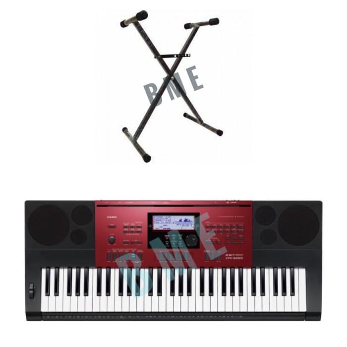 harga Paket!! keyboard casio ctk-6250 + stand Tokopedia.com