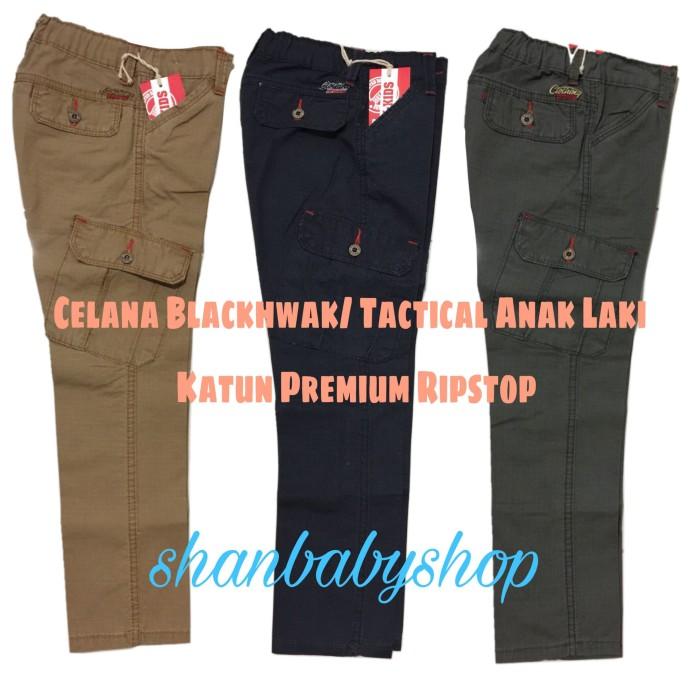 harga Celana panjang katun anak laki5-9 y blackhwak/ tactical /cargo/pdl Tokopedia.com
